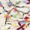 flowers with thorns print silk twill fabric